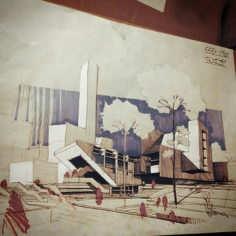396建築設計師手稿作品