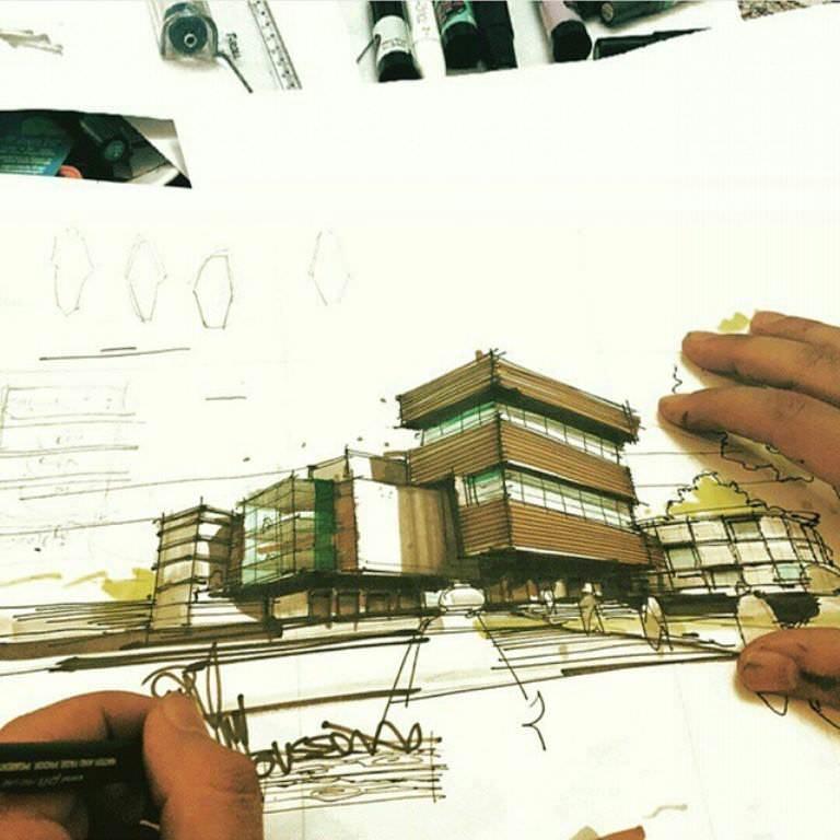 413建築設計師手稿作品
