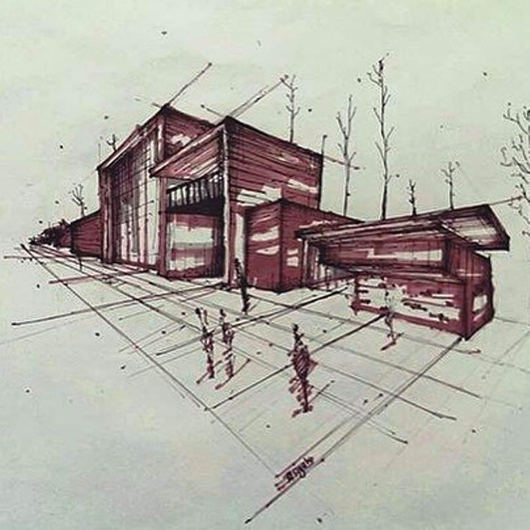 440建築設計師手稿作品