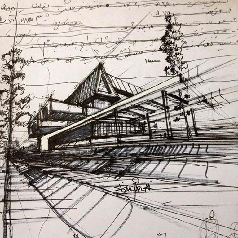 441建築設計師手稿作品