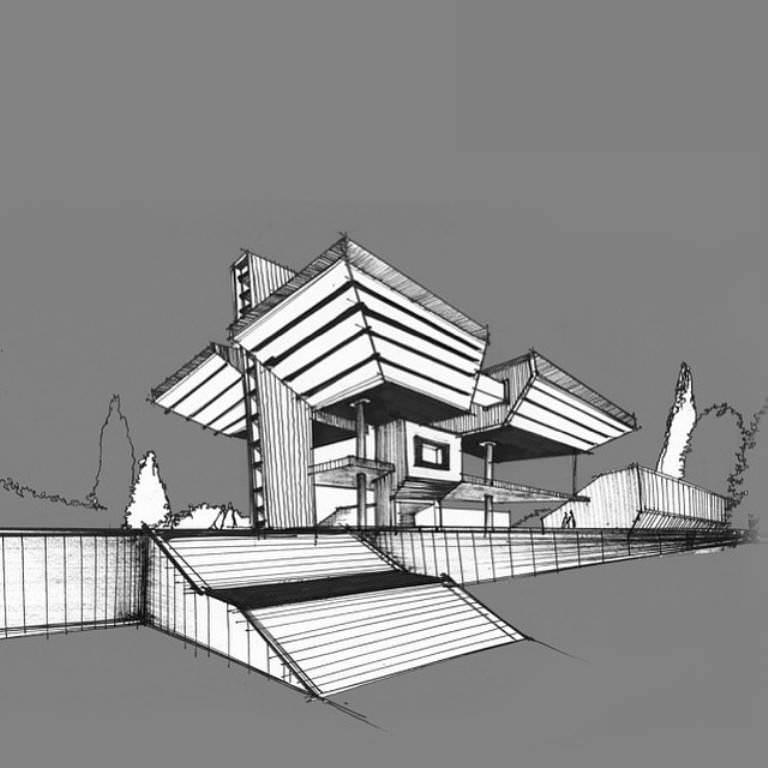 476建築設計師手稿作品