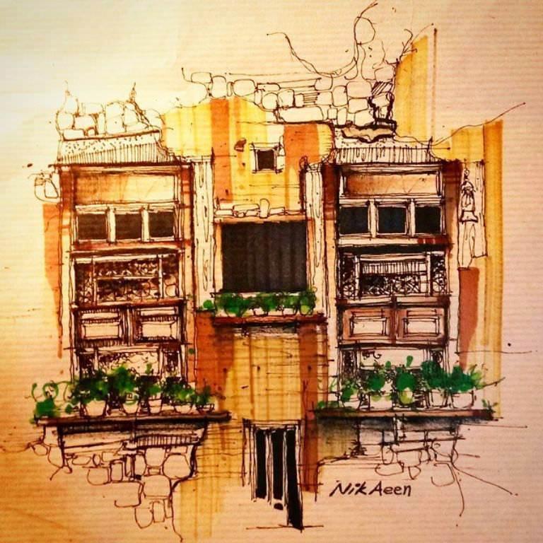 478建築設計師手稿作品