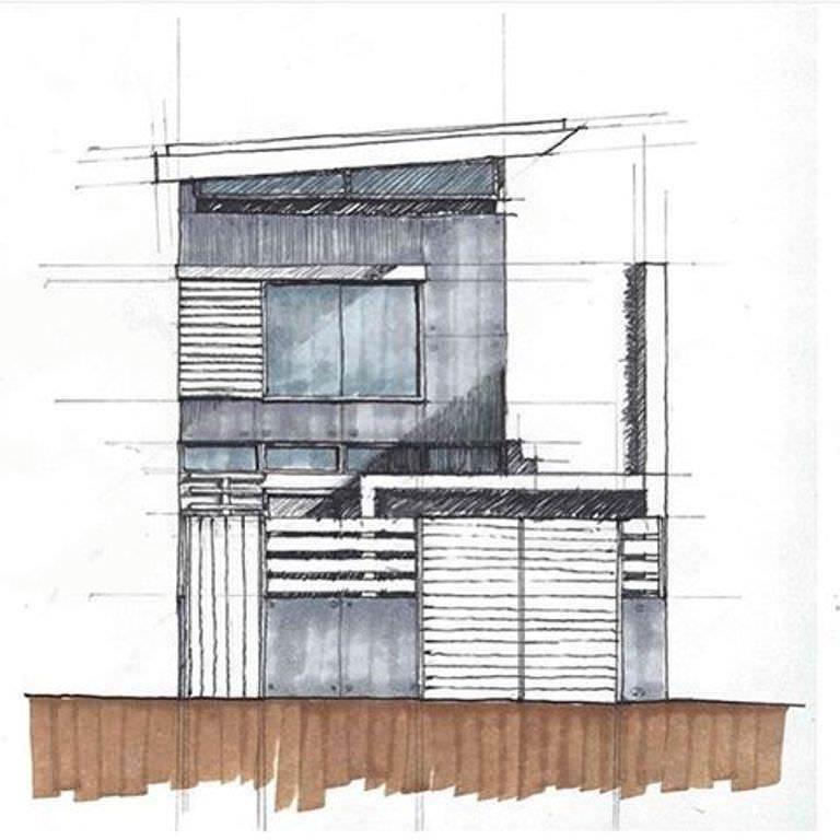 479建築設計師手稿作品