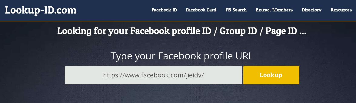 facebook-ID-查詢工具輸入欄位