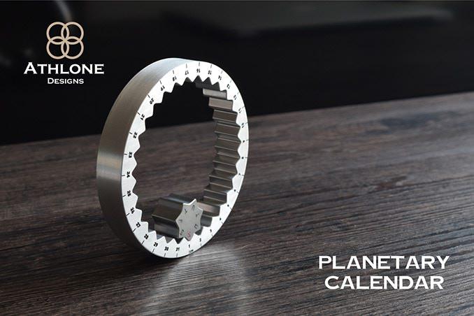 環狀金屬萬年曆