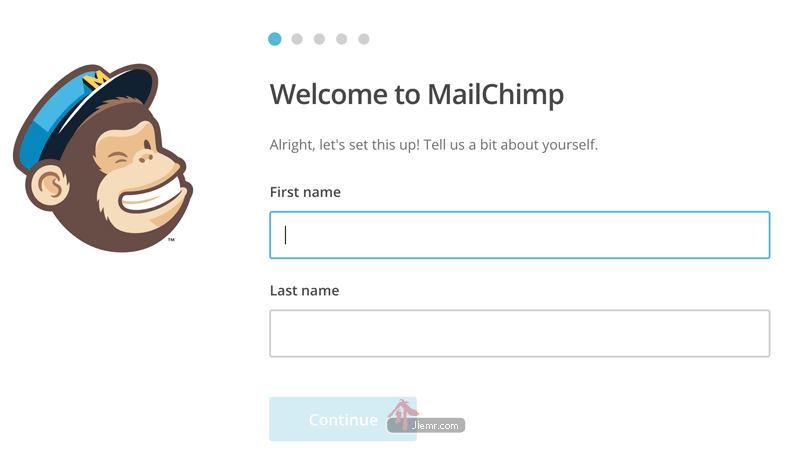 mailchimp填寫資料