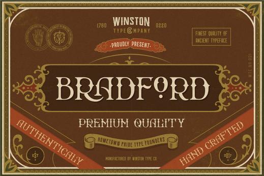 Bradford-Basic-英文字體