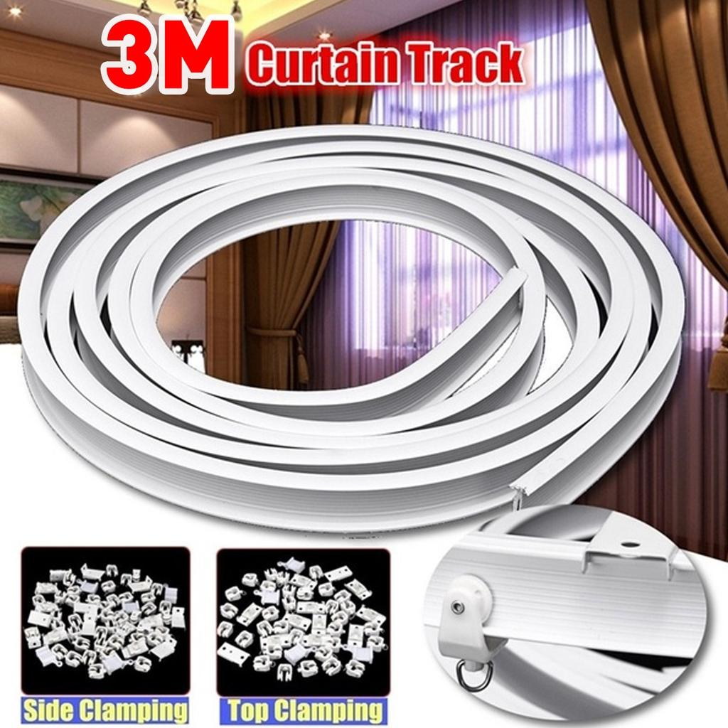 3 meters 4m flexible ceiling mounted curtain track rail for straight slide window buy at a low prices on joom e commerce platform