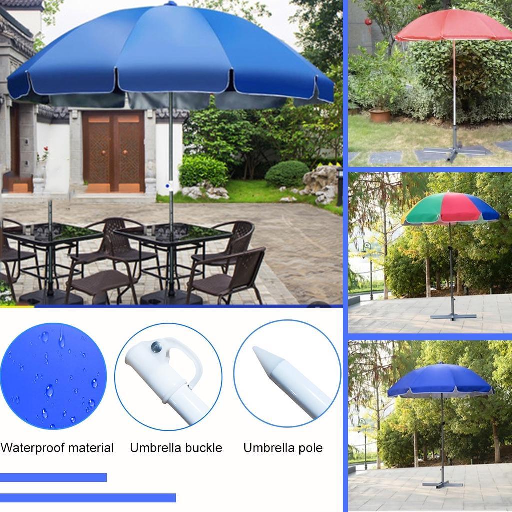 outdoor parasol 180cm garden patio umbrella beach sun shade umbrella with base ultraviolet proof waterproof