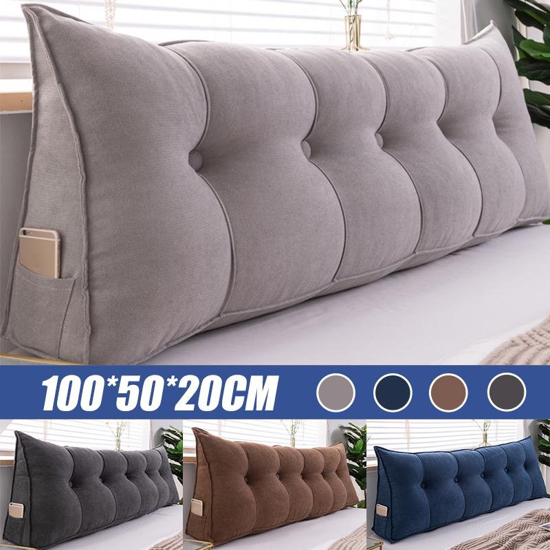 wedge pillow bed twin big long reading pillow cushion backrest cushion large waist pillow for bed