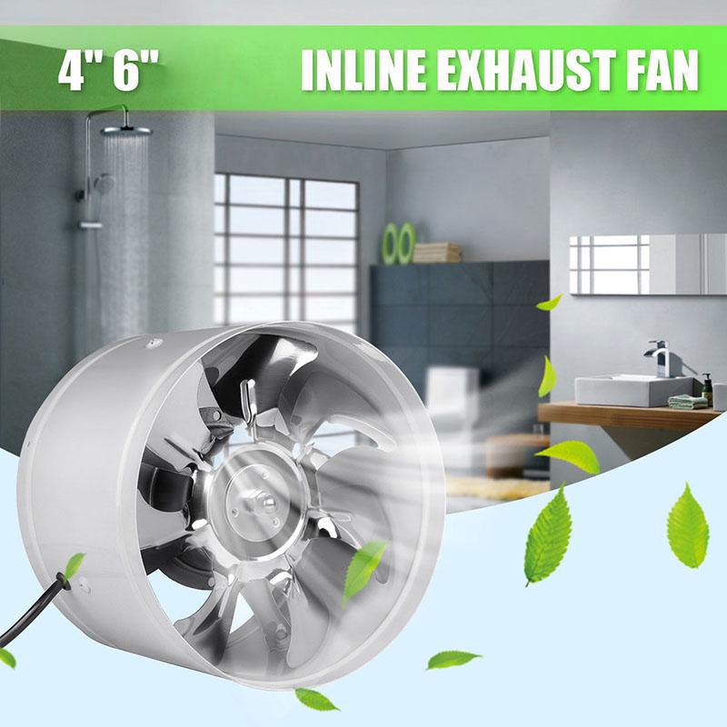 4inch 6inch inline duct fan booster exhaust blower air cooling vent metal blades small idea