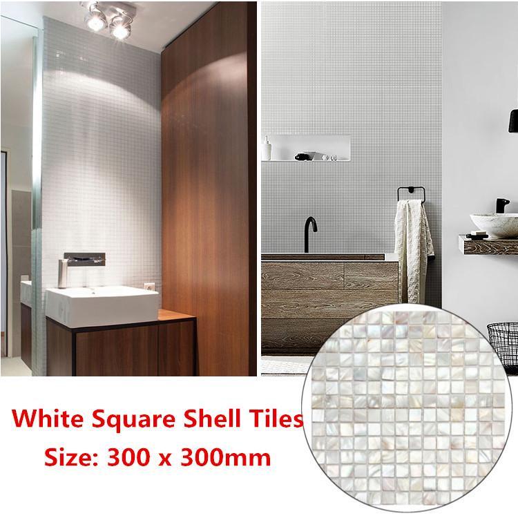 300 300mm white square shell mosaic tiles natural mother of pearl kitchen backsplash tiles