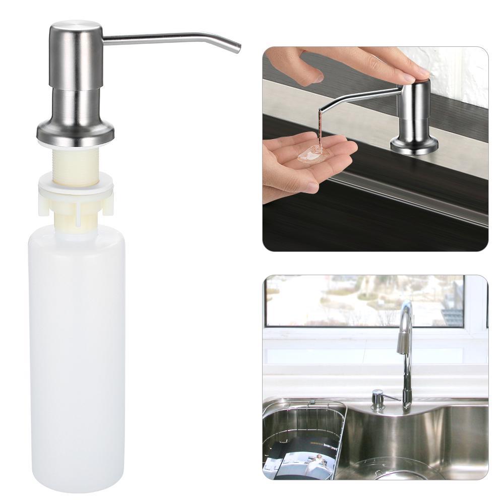 stainless steel kitchen sink soap dispenser 300ml soap dispensers hand liquid pump bottle easy inst