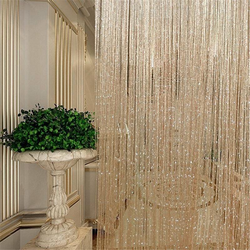 fly screen fringe tassel curtain string sparkle curtains room door window decor
