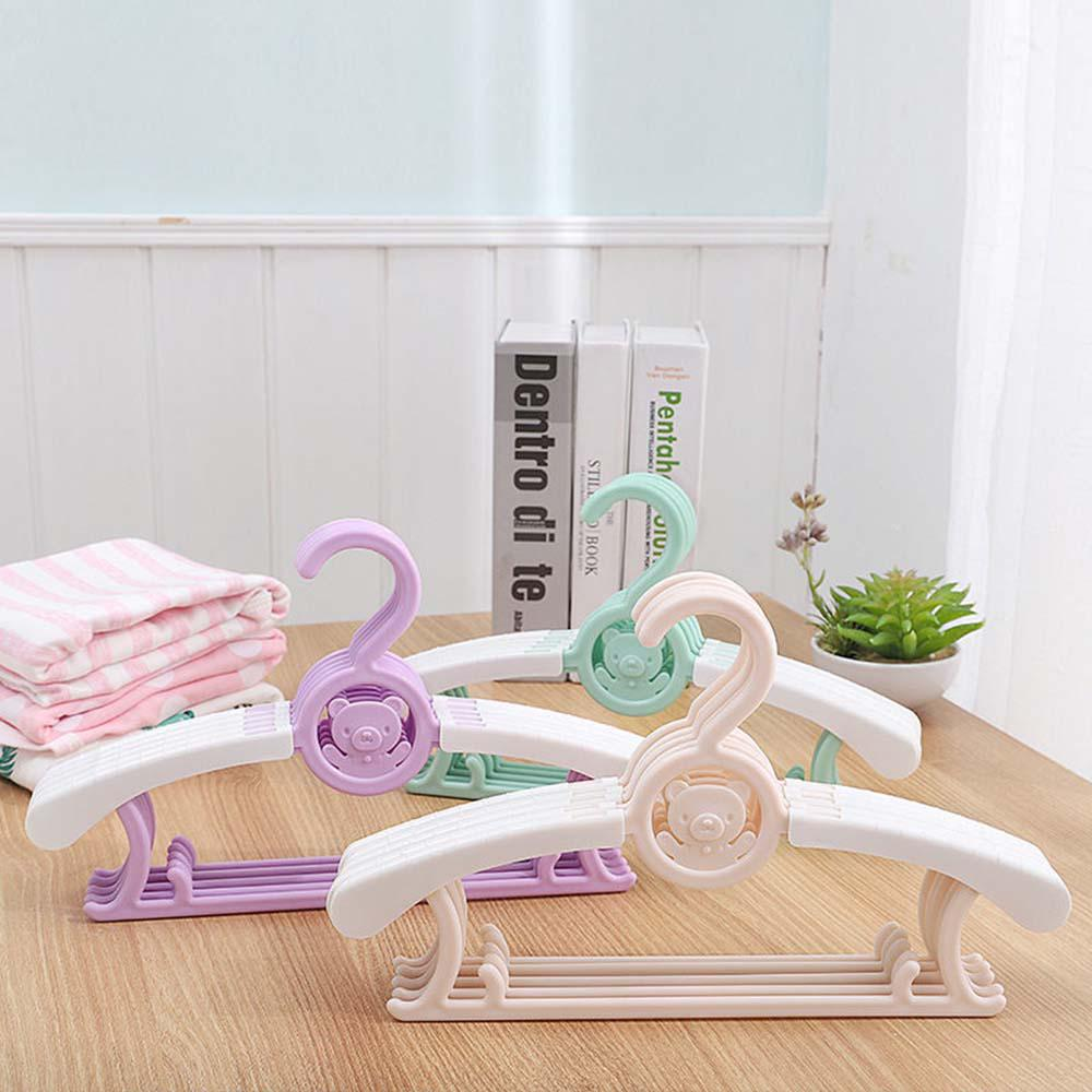 clothing coat closet organizer kids colorful plastic baby clothes hangers drying rack