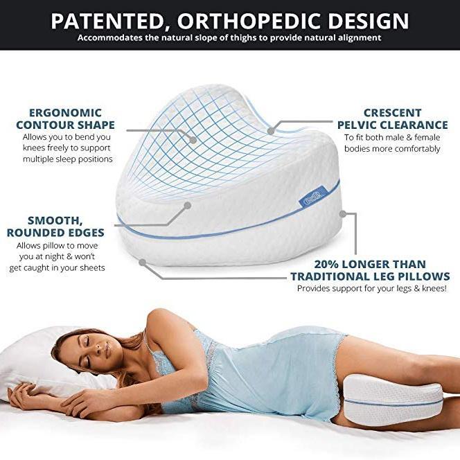 memory foam leg pillow comfortable anti pressure side sleeping legs support pillows wedge orthopedic