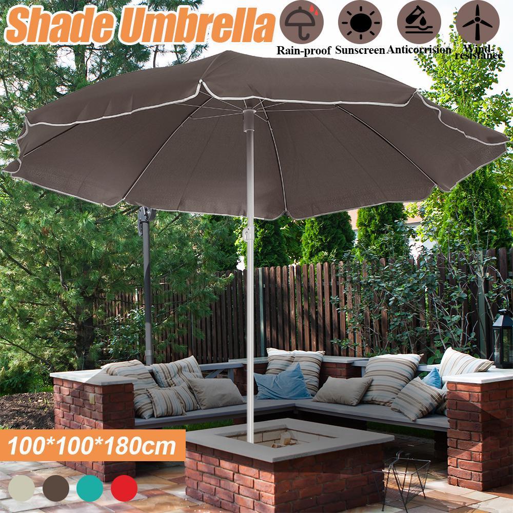 1 8m outdoor garden patio beach patio cover umbrella waterproof parasol sun shade umbrella canopy