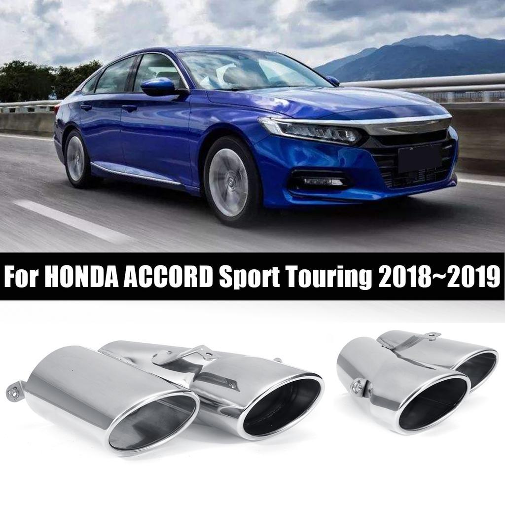 stainless steel muffler exhaust finisher for honda accord sport touring 2018 2019