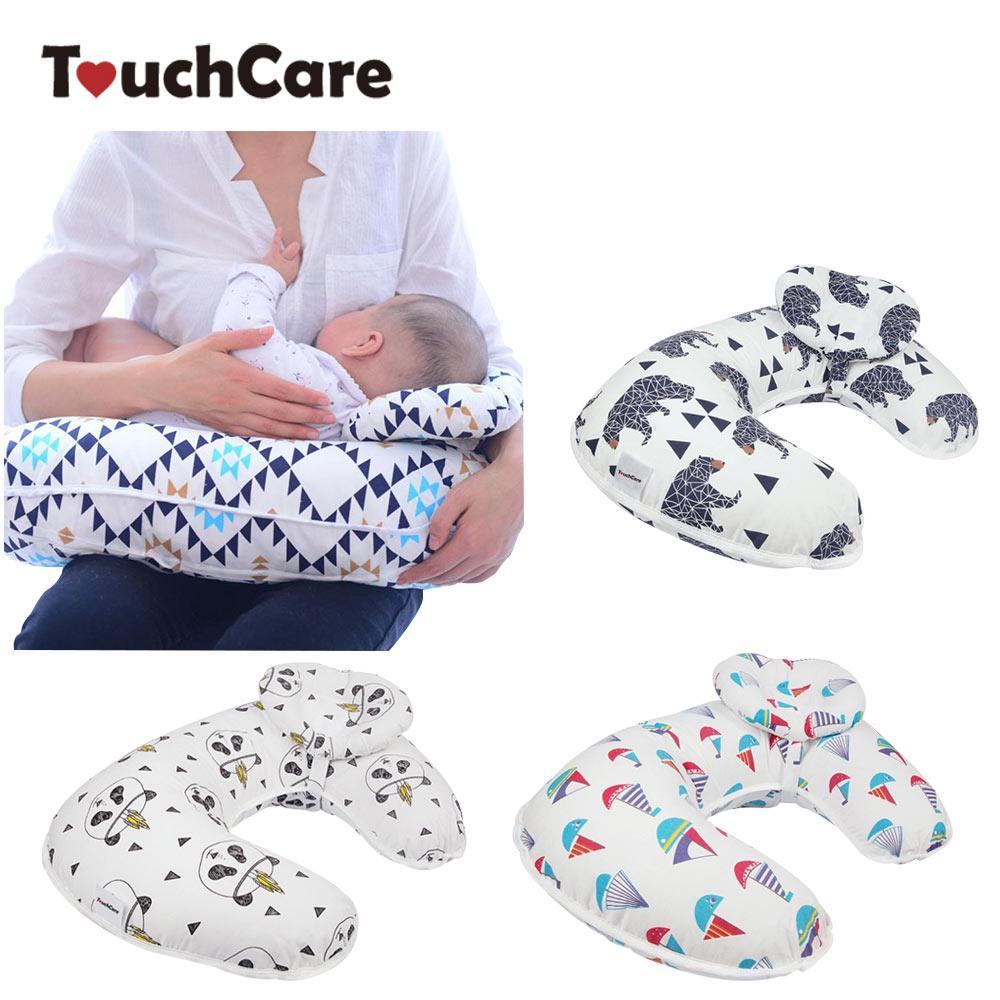2pcs set baby nursing pillows maternity breastfeeding pillow u shaped cotton feeding waist cushion