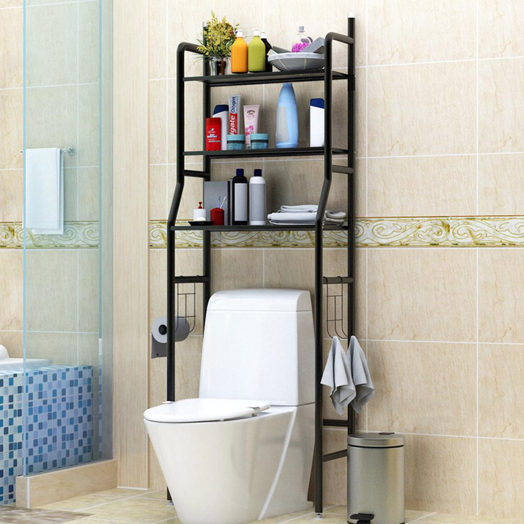 3 tier over toilet shelf bathroom storage rack home toilet organizers over washing machine storage buy at a low prices on joom e commerce platform