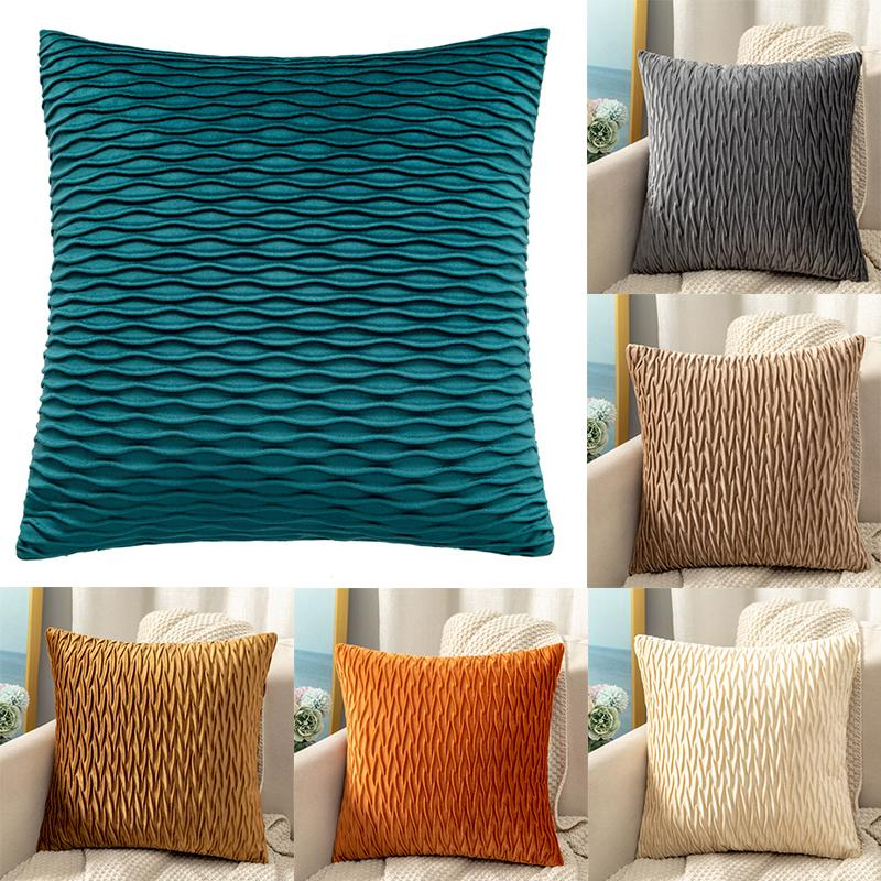 striped velvet cushion cover pillowcase pillow case decor sofa throw pillows room decorative buy at a low prices on joom e commerce platform