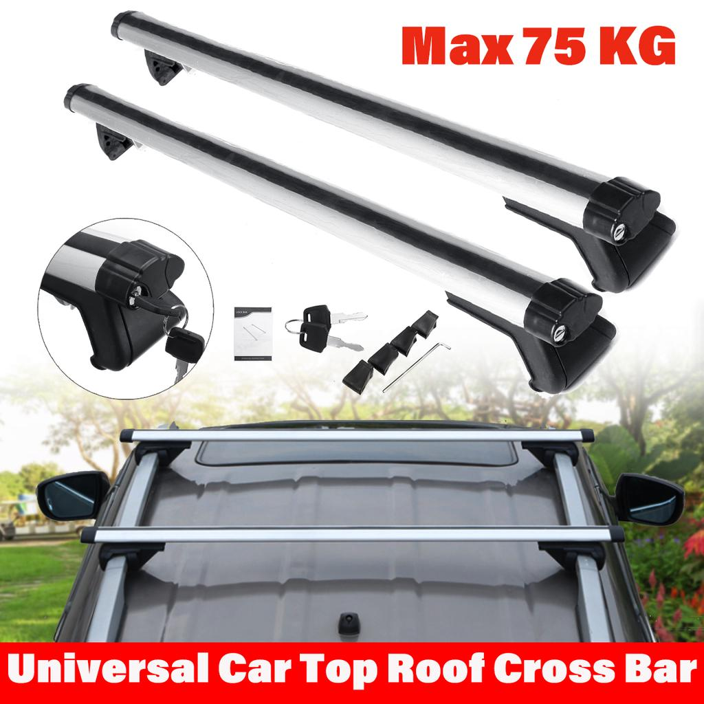 125cm universal car roof rack cross bars vehicle cargo luggage carrier auto roof rails with anti theft lock