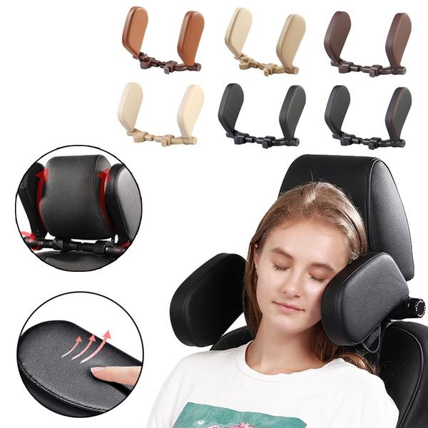 universal car headrest pillow car seat pillow neck support travel sleeping cushion for kids and adults 2 styles