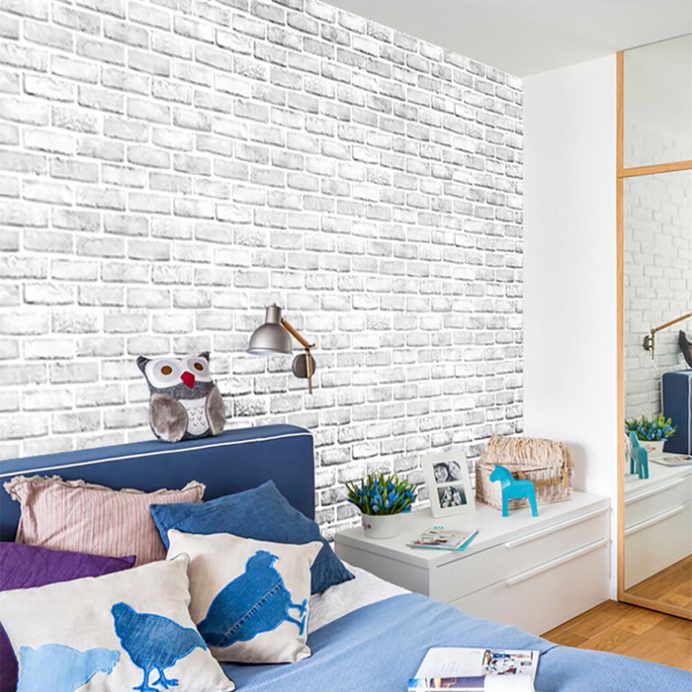 Questa muro di mattoni carta da parati in grigio è un ottimo modo per. Carta Da Parati Mattoni Pietra Rustico Autoadesiva Wall Sticker Home Decor Simulare L Effetto 3d Acquistare A Basso Prezzo Nel Negozio Online Joom