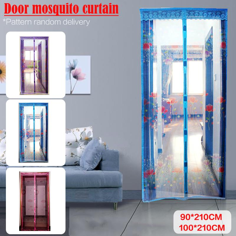 summer anti mosquito curtain soft magnetic screen door printing magic random delivery of pattern