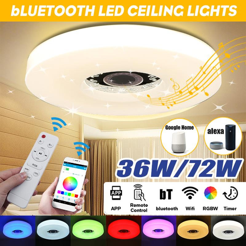 smart 72w 36w 40cm rgb led ceiling lights modern app wifi bluetooth music lamp living room bedroom kitchen lighting fixture surface mount buy at a low