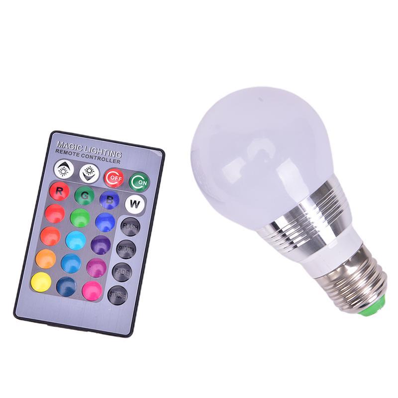 color changing e27 3w rgb led lamp light magic bulb ir remote control