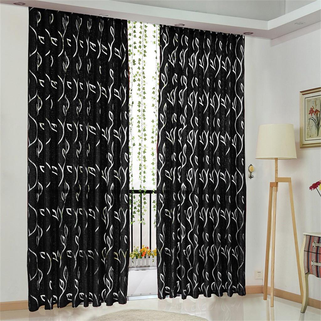 vines leaves tulle door window curtain drape panel sheer valances