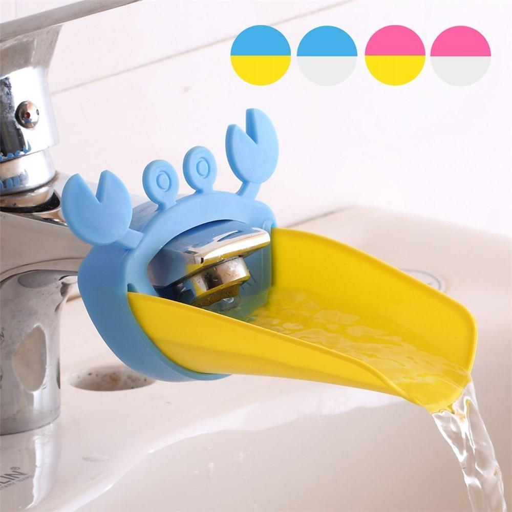 bathroom faucet extender cartoon baby hand washing device children guide sink faucet extension