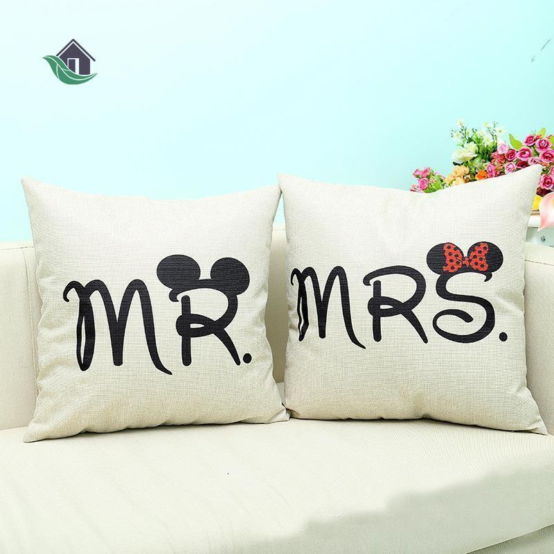 mr mrs love couple home sofa bed decor wedding pillow case cushion cover gift buy at a low prices on joom e commerce platform
