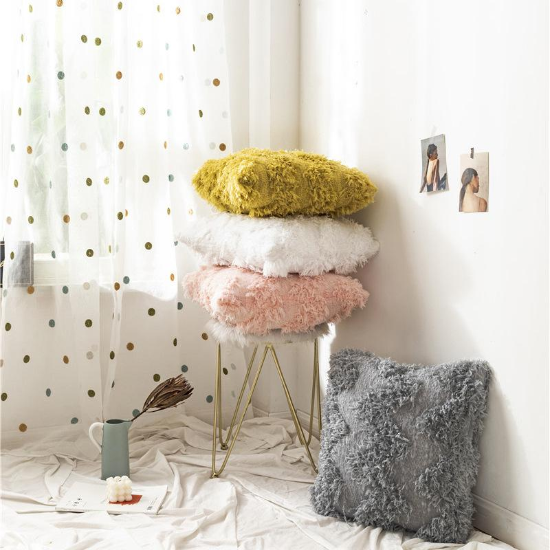 throw pillow case cushion cover feather velvet fluffy furry sofa bed home decor buy at a low prices on joom e commerce platform