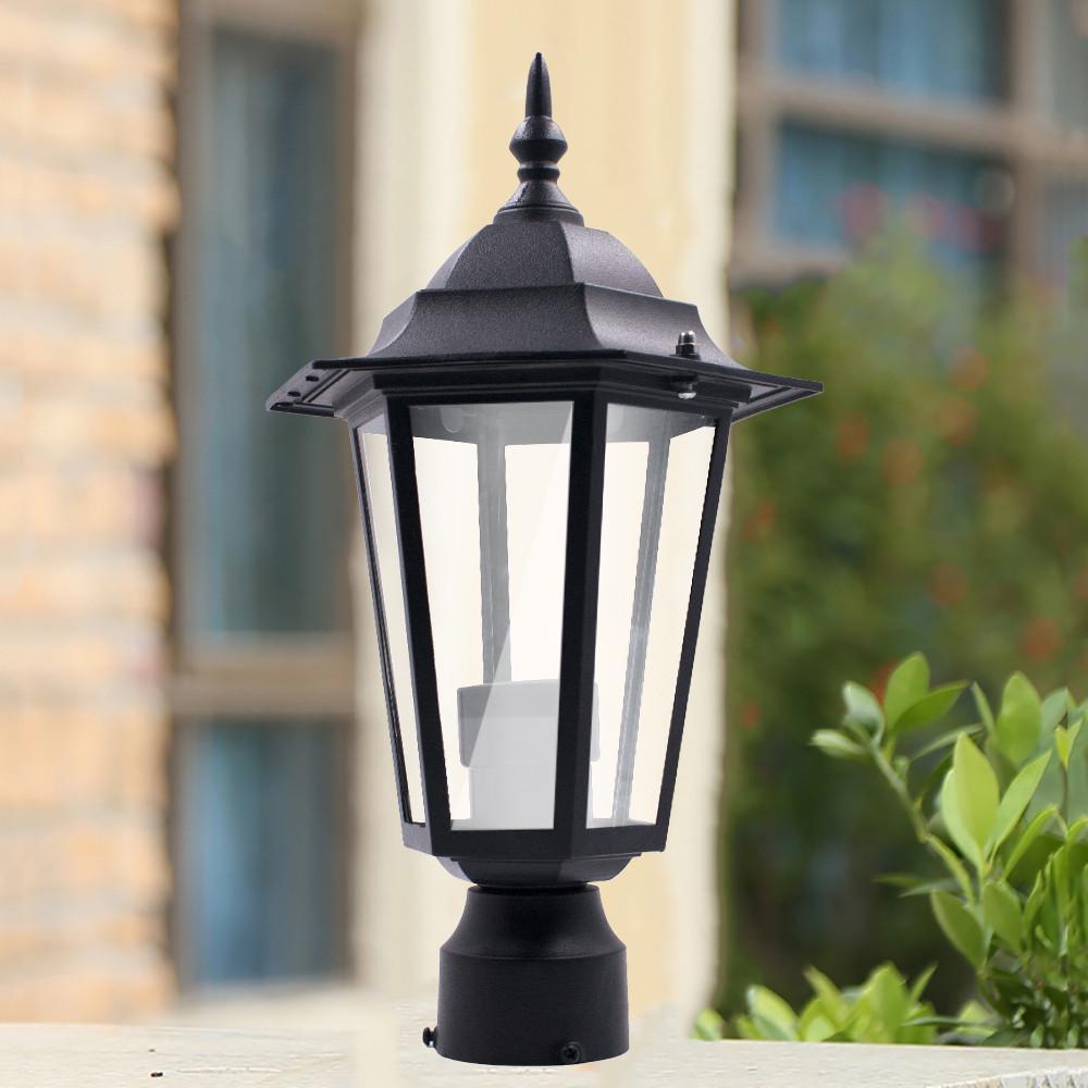 post pole light outdoor garden patio driveway yard lantern lamp