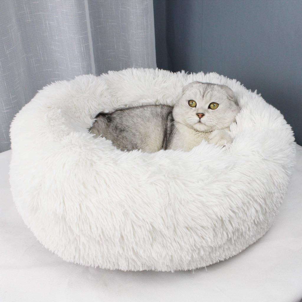 deluxe fluffy extra large dog bed washable round pet sofa cats beds mat dog pillow cushion pets bed