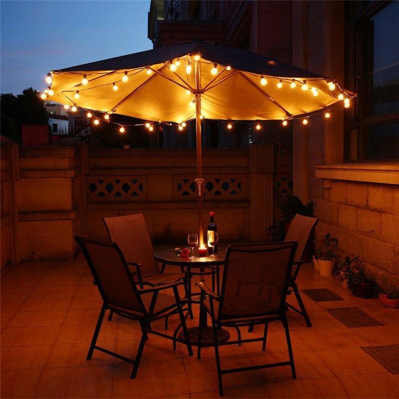 outdoor waterproof commercial grade patio globe string lights bulbs