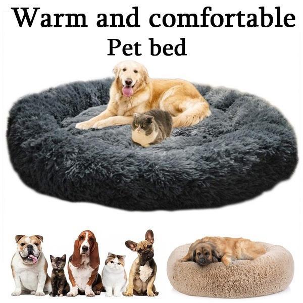 deluxe fluffy extra large dog beds sofa washable round dog pillow cushion pet bed for large extra large dog