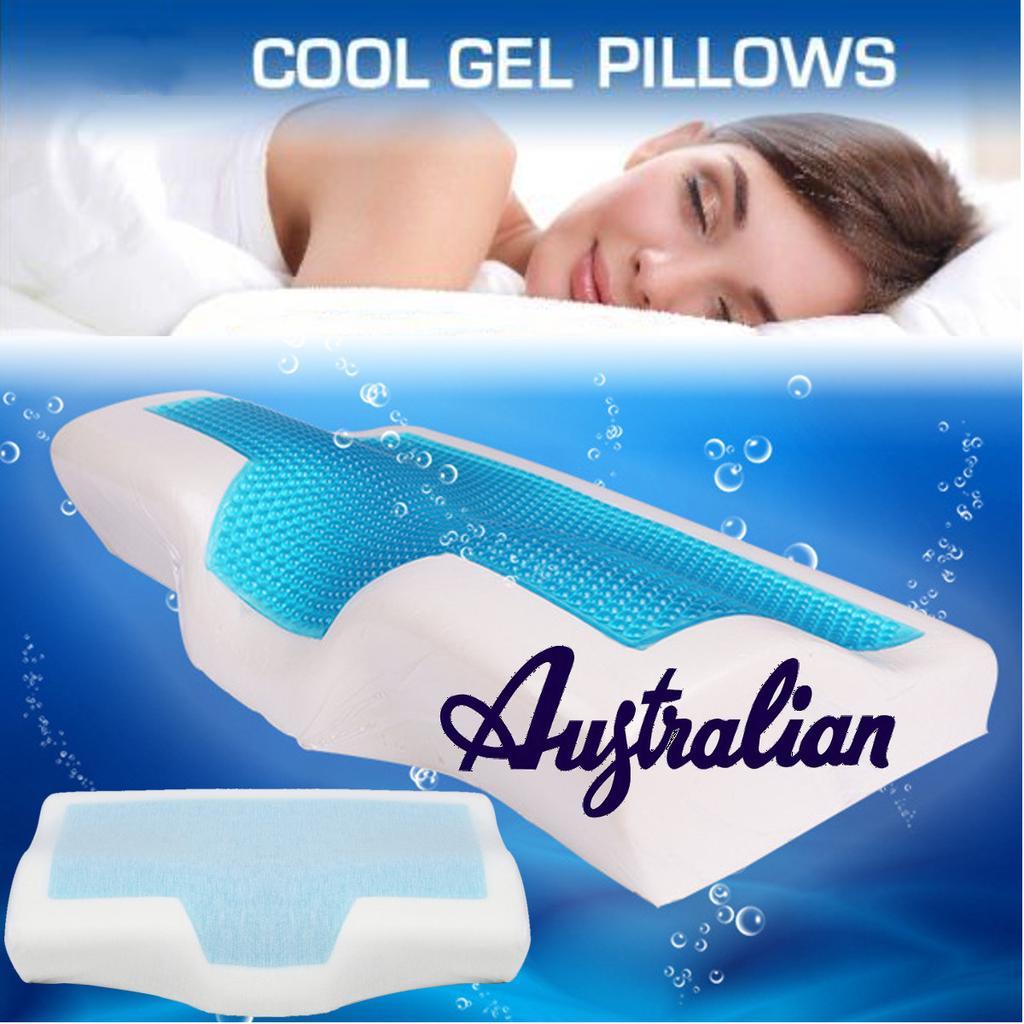 memory foam pillow w cooling gel reversible orthopedic neck cervical care