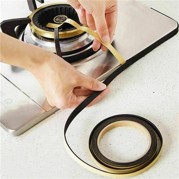 self adhesive window slit kitchen sink sealing tape gas stove waterproof strip
