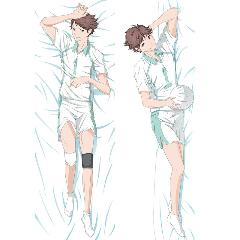 150x50cm nice hugging body cosplay anime haikyuu oikawa tooru pillow case cover