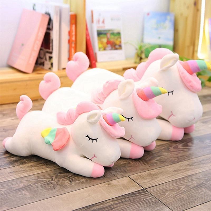 30cm 40cm 50cm 60cm unicorn plush toy cute cartoon unicorn soft pillow kids birthday gifts