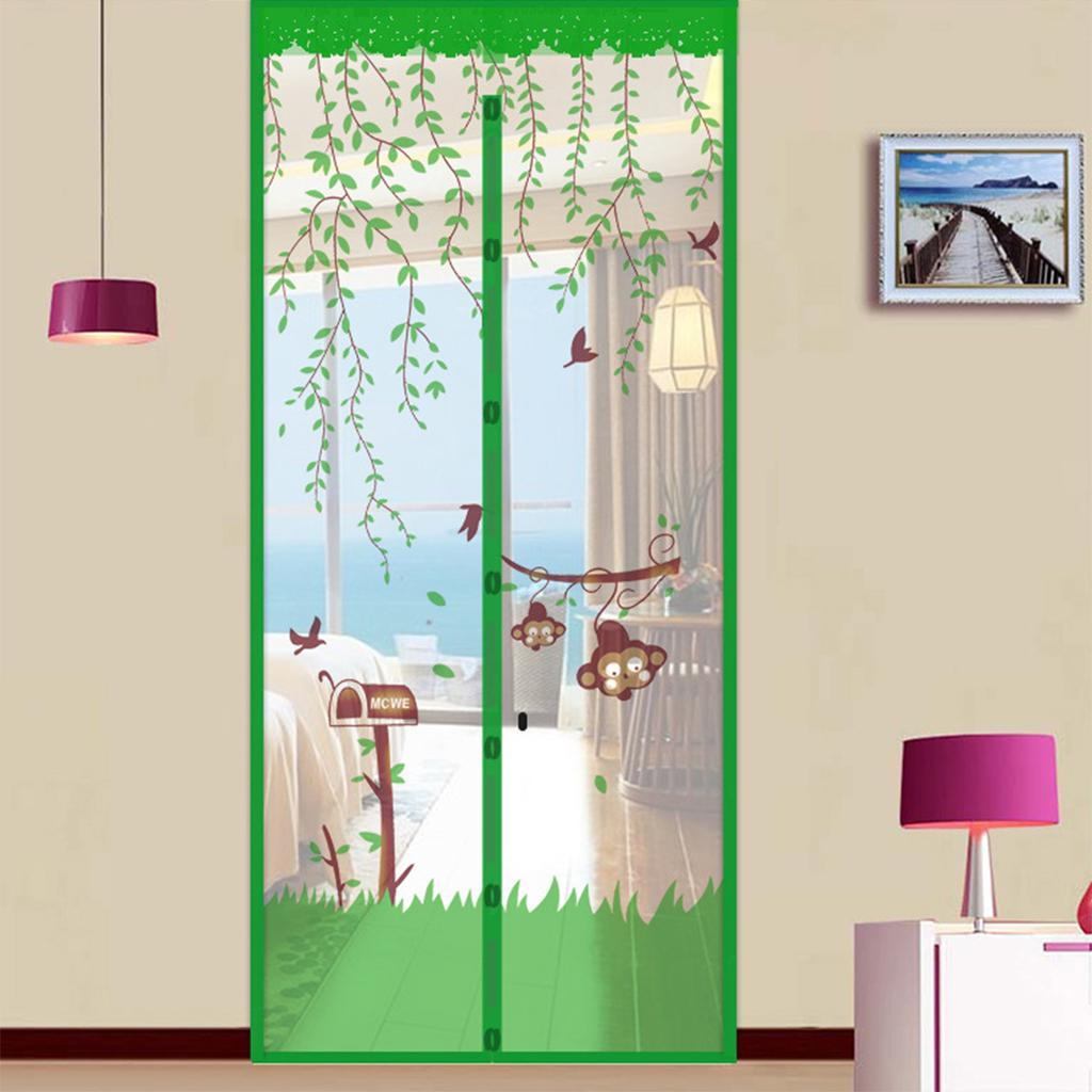 80x200 90x210 100x210cm 3 types magnetic door curtain screen door insect snap screen fly curtain anti mosquito summer door