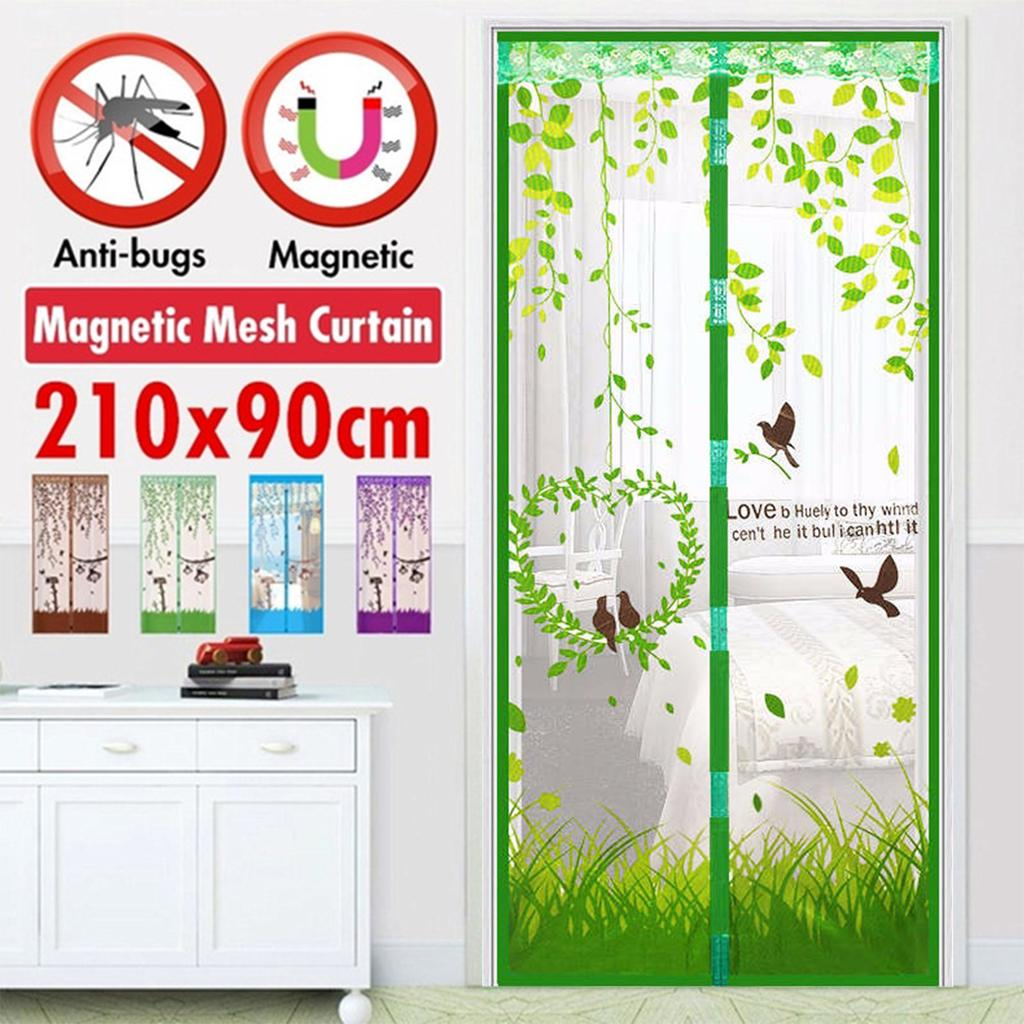 100x210 cm anti insect fly bug mosquito door curtains magnetic tulle door screen mesh net