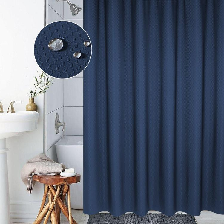waterproof shower curtain 12 rings 150 x 200 cm anti mold polyester blue yonis buy at a low prices on joom e commerce platform