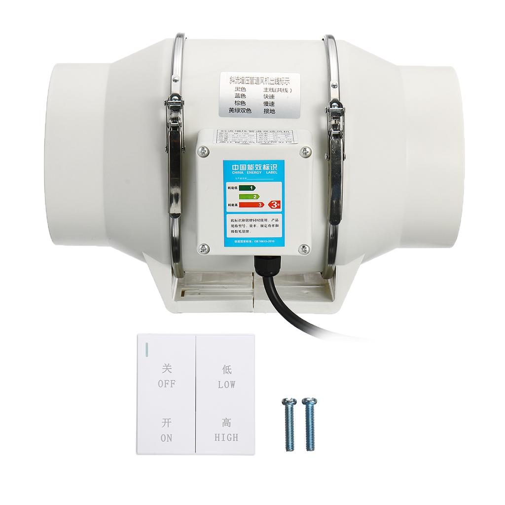 silent inline duct fan exhaust fan hydroponic air blower for home bath vent 220v