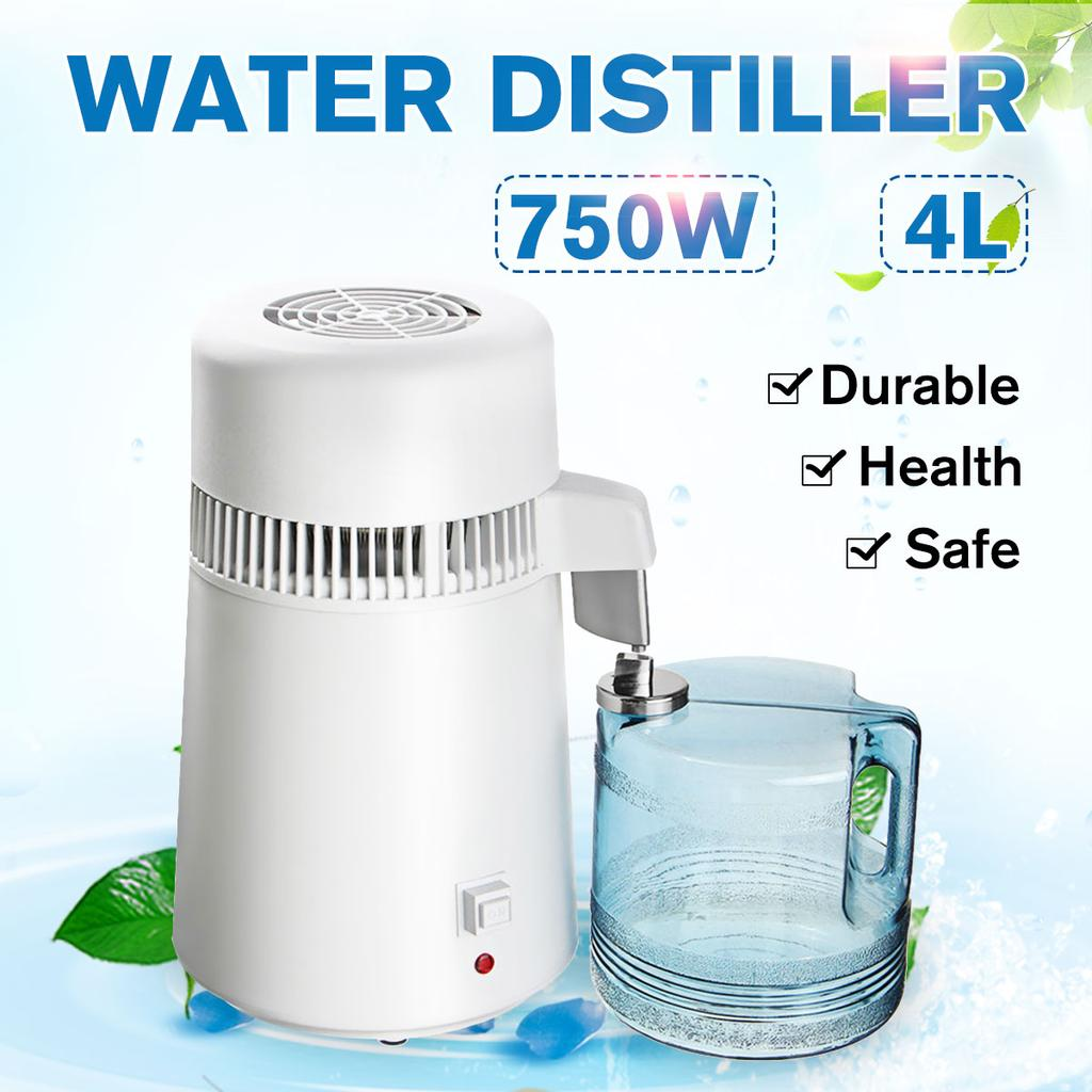 4l 220v 750w portable food grade pure water distiller filter water distilled machine distillation purifier equipment stainless steel jug buy at a low