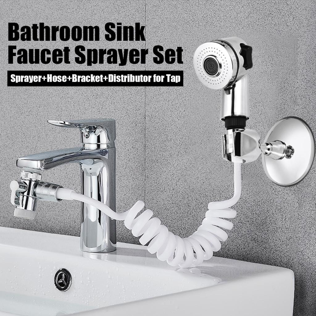 1 set stainless steel bathroom sink faucet sprayer set pull out faucets bidet sprayer for toilet for an easy tap spray shower conversion