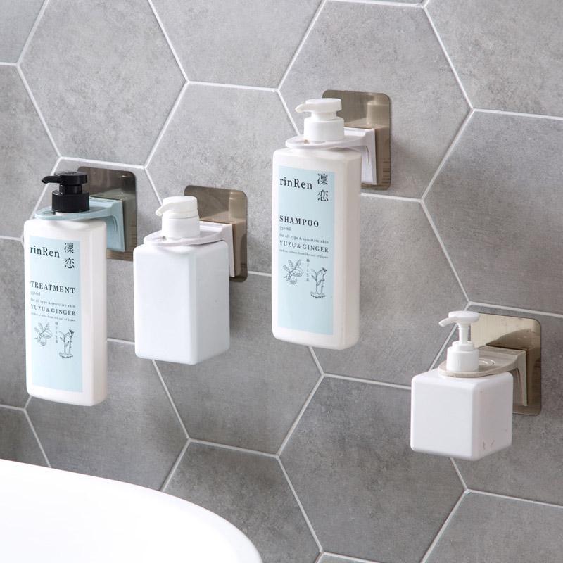wall mounted magic sticky shampoo hook shower hand soap bottle hanging holder